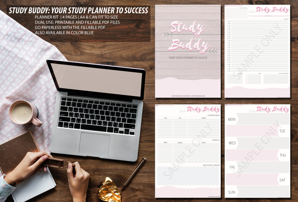 Save Mother Nature and GO PAPERLESS with the Study Buddy: Your Study Planner to Success in Pink