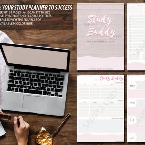 STUDY BUDDY STUDY PLANNER PINK