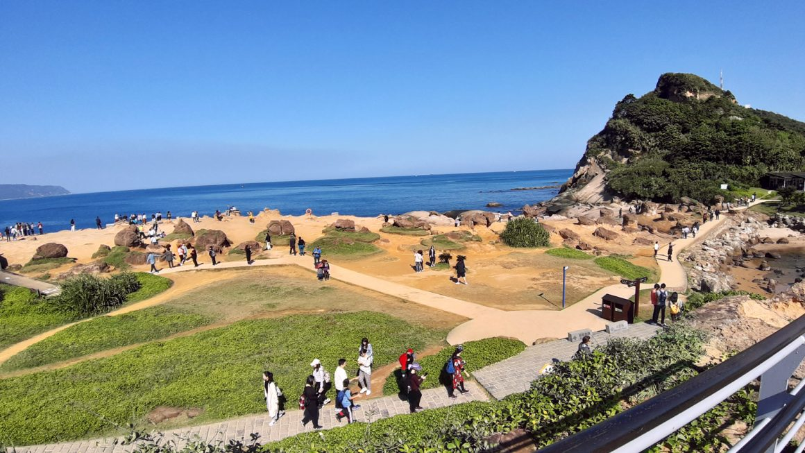 Hiking Yehliu Geopark at the Northern Coast of Taiwan