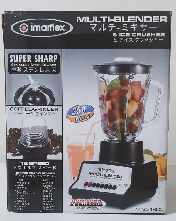 Imarflex Multi-Blender and Ice-Crusher (IM-3216GC) Unboxing