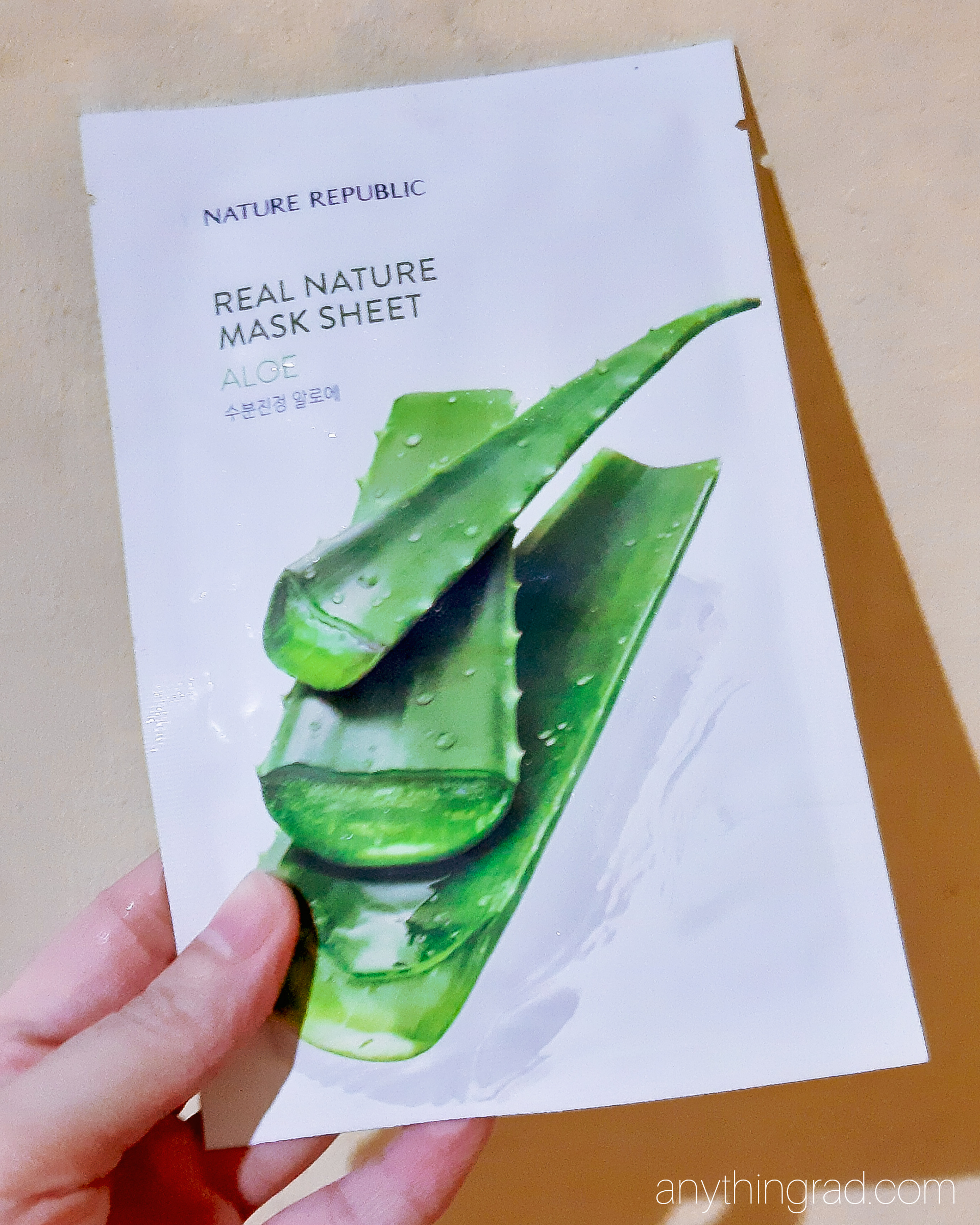 Real Nature Aloe Vera Mask by Nature Republic Review